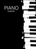 Fototapety Abstract Music Art, Piano Poster (Vector Art)