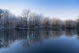 Fototapety Snowy Winter Lake Reflections