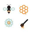 Obrazy na płótnie, fototapety, zdjęcia, fotoobrazy drukowane : Honeybee And Supplies