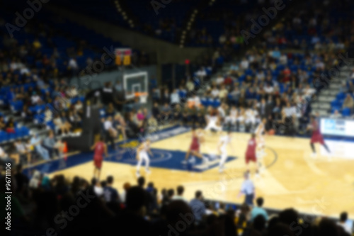 blurred background of sports arena crowd Poster