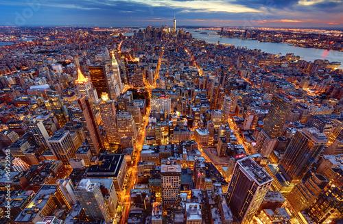 Fototapeta Manhattan Skyline bei Nacht 3