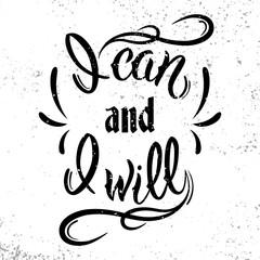 Ja może i będzie. Motywacyjnych i inspirujący cytat.