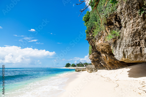 Fotobehang Bali Tropical beach with white sand in Bali