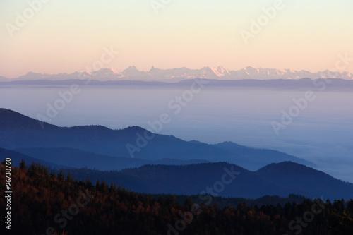 Poster Les Alpes vues des Vosges
