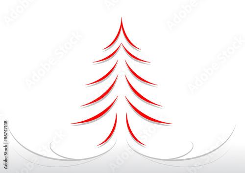 Bigliettino albero di natale stilizzato for Albero natale stilizzato