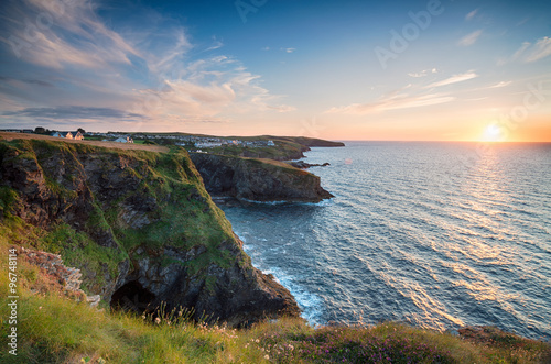 Sunset at Port Gaverne Poster