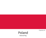 Fototapety National flag of Poland with correct proportions, element, colors