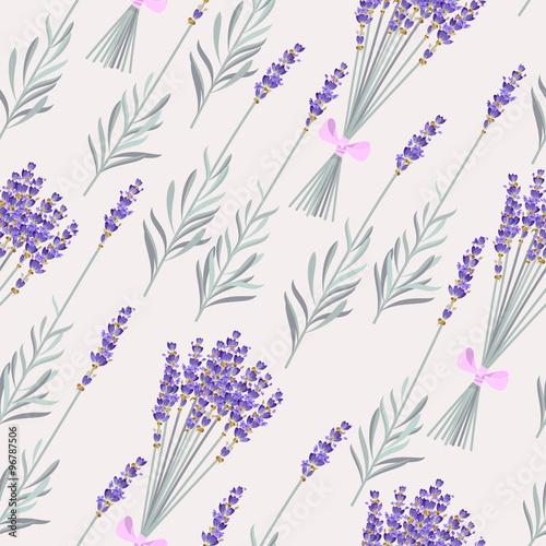 Fototapeta Lavender bouquets seamless