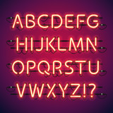 Fototapety Glowing Neon Bar Alphabet