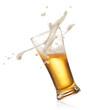 splashing beer