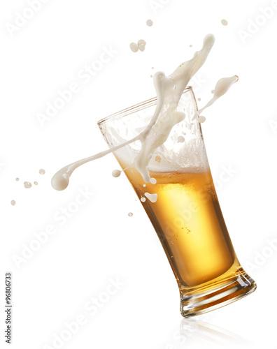 splashing beer Poster