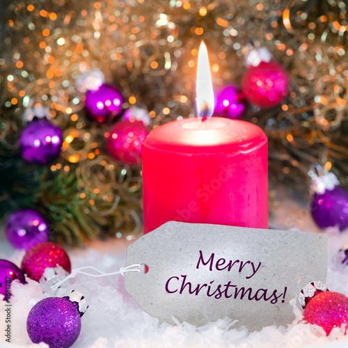 Fotobehang Merry christmas, Weihnachtskarte, Grusskarte