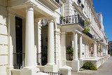 White luxury houses facades in London, Kensington and Chelsea