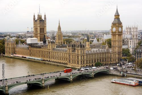 Zdjęcia na płótnie, fototapety, obrazy : Big Ben und Palace of Westminster in London