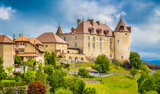 Fototapety Medieval town of Gruyeres, Fribourg, Switzerland