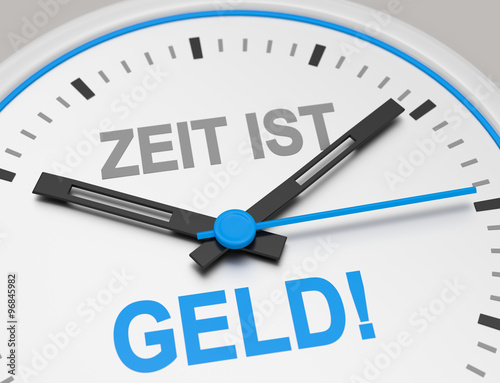 zeit ist geld stock photo and royalty free images on pic 96845982. Black Bedroom Furniture Sets. Home Design Ideas