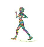 silhouette astratta di donna che cammina