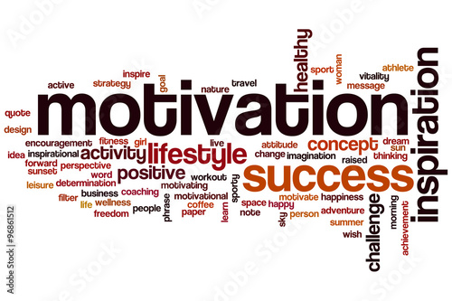 Motivation word cloud concept Poster