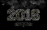 Fototapety Happy new year 2016 gold deco geometry outline