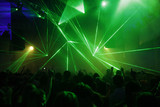 laser lights at disco
