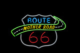 Neon sign Route 66 USA. Another of incr