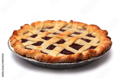 Plexiglas Kersen Homemade Cherry Pie in a Foil Baking Tin