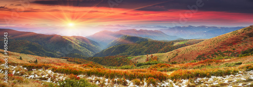 Foto op Canvas Crimson Golden colors of autumn