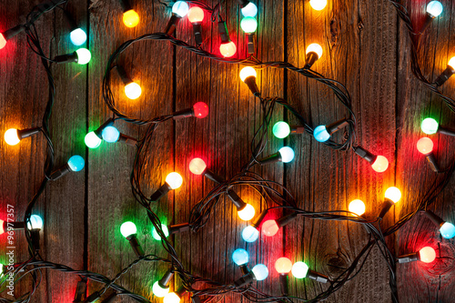 Foto Murales Christmas colorful lights