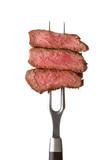 steak on fork