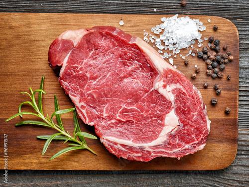 Poster Premières steak de boeuf