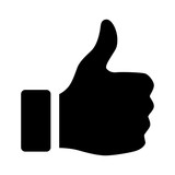 Thumbs up flat icon for apps and websites