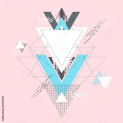 Obraz Abstract modern geometric background