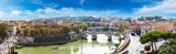 Fototapety View above Rome and Tiber  in Rome