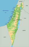 High detailed Israel physical map with labeling. - 97035352