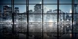 Modern NYC Interior Architecture Night Scene Concept.. - Fine Art prints