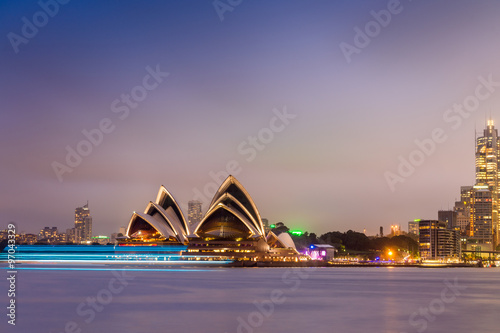 Poszter SYDNEY - OCTOBER 12, 2015: The Iconic Sydney Opera House is a mu
