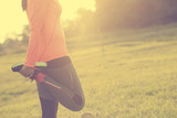 běžec žena zahřát