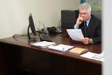 Fototapety Businessman reading resume