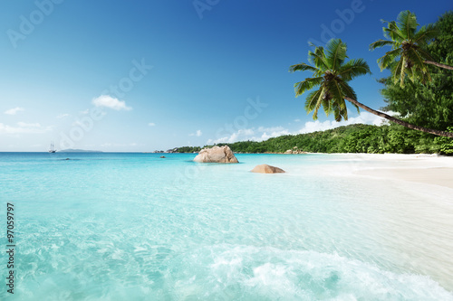 Zdjęcia na płótnie, fototapety na wymiar, obrazy na ścianę : Anse Lazio beach at Praslin island, Seychelles