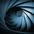 Abstract digital background with dark blue 3d spiral
