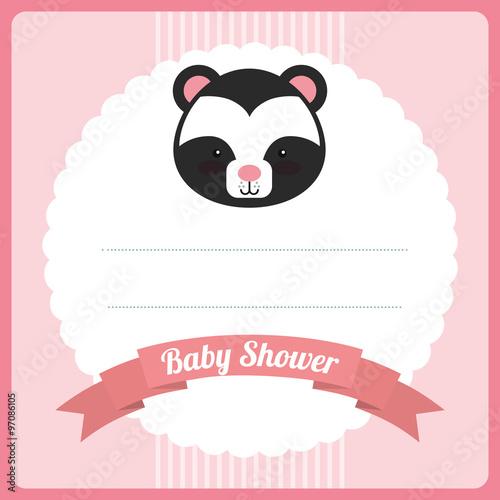 In de dag Retro sign baby shower design