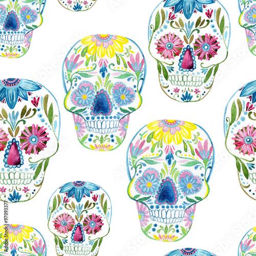 Sugar skull painting - 97093377