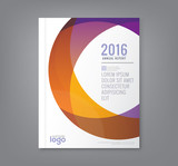 Abstract round circle shapes background for business annual report cover flyer