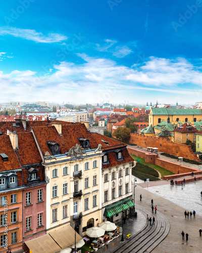 Fototapeta Panoramic view of Warsaw
