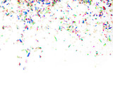 Fototapety Colorful confetti on white background