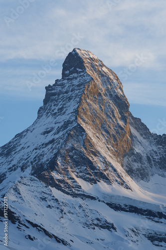 Mountain Matterhorn at dusk, Zermatt, Switzerland Poster