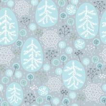 Patrón transparente de invierno