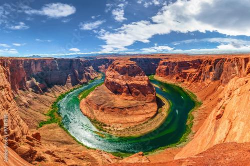 Tuinposter Canyon panorama of Horseshoe Bend at Colorado River in Arizona