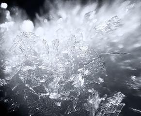 Kryształki lodu w makro z bliska