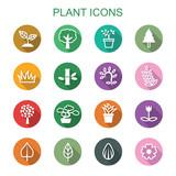 Fototapety plant long shadow icons